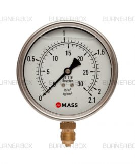 Gas/Oil Pressure Gauge 16 Bar